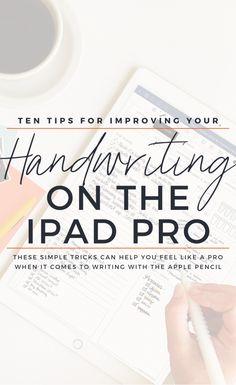 Ipad Pro Tips, Ipad Hacks, Apple Store, Improve Your Handwriting, Best Ipad, Ipad Art, Good Notes, Study Notes, Study Tips
