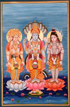 Trimurti-Brahma Vishnu Shiva