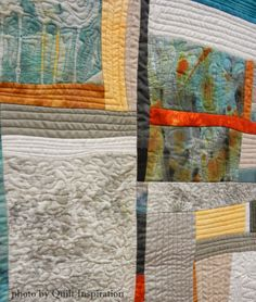close up, Ghost Walk by Karin Scanlon.  2nd place, Art/Abstract, 2015 AZQG.  Photo by Quilt Inspiration