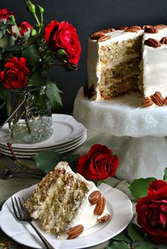 Italian Cream Cake | you-made-that.com