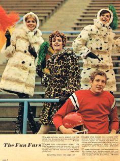 gosh, I forgot about the 'Fun' furs 60s Fashion Trends, Mod Fashion, 1960s Fashion, Fashion Beauty, Vintage Fashion, Vintage Advertisements, Vintage Ads, Vintage Clothing, Vintage Style