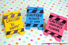 DIY Placa CAUTION