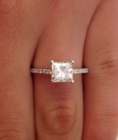 1.62 CT PRINCESS CUT D/SI1 DIAMOND SOLITAIRE ENGAGEMENT RING 14K WHITE GOLD #Jewelry #Deal #Fashion