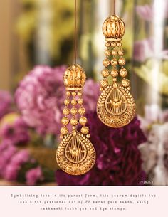 Buy Rivaah Jewellery Designs online with a wide variety of collections in India. Check out Tanishq best collection of Designer earrings, neckwear, etc . Gold Jhumka Earrings, Gold Mangalsutra, Gold Earrings Designs, Gold Jewellery Design, Labret Jewelry, Choker Jewelry, Tanishq Jewellery, Gold Jewelry Simple, Jewelry Sketch