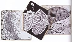Book page example from THE BOOK OF ZENTANGLE. Example by Maria Thomas, Zentangle Founder