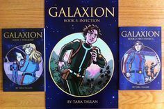 Galaxion is a multi-part science fiction graphic novel.... tells the story of the crew of the starship Galaxion, who are testing a new jump engine. They make the jump, but don't end up where they expect. The story has adventure, humour, romance and mystery. It appeals to readers of all ages and fans of ensemble cast science fiction shows like Star Trek (although those who watched Star Blazers may notice some influence, too).