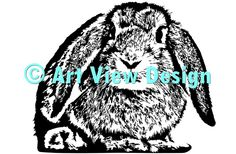 Our Rabbit design || Original and one of a kind || Pattern can be used for everything and every cutting machine || ♡