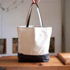 The Shopper no.2 - waxed canvas tote bag