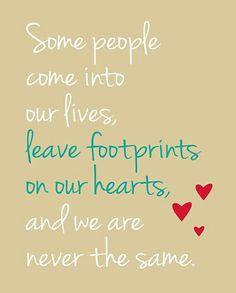 Footprint in hearts