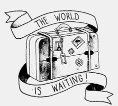 travel tattoos suitcase