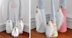 DIY návod na výrobu originálnych vianočných škriatkov, ktorí dotvoria pohodovú atmosféru Vianoc. Vianoční škriatkovia. Kreatívny nápad na vianočnú dekoráciu