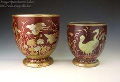 Planters, Birds, Ceramics, Tableware, Art, Hall Pottery, Art Background, Pottery, Dinnerware
