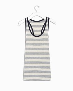 for the beach or layering. love the heather gray stripe