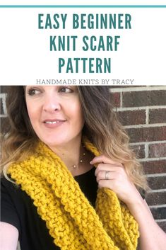 Chunky Infinity Cowl Scarf Pattern – handmade knits by tracy Easy Knit Scarf Beginner Knit Scarf, Knitting For Beginners, Handmade Birthday Gifts, Cowl Scarf, Cute Diys, Hand Dyed Yarn, Knitting Yarn, Inner Circle, Infinity