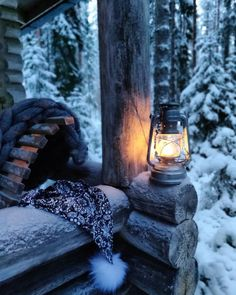 Shed Cabin, Gas Lanterns, Living Etc, Holiday Mood, Small Places, Cabins In The Woods, Winter Is Coming, Beautiful Moments, Winter Holidays