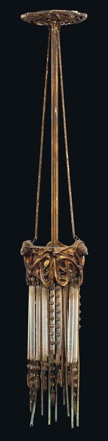 Art Nouveau - Luminaire - Suspension - Hector Guimard