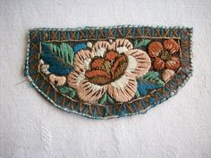 Art deco period metal embroidered french appliques via Etsy