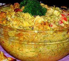 Rippijuhlatarjoilut – Hellapoliisi Salat Al Fajr, Finnish Recipes, Good Food, Yummy Food, Savory Snacks, Food Festival, Guacamole, Macaroni, Cabbage