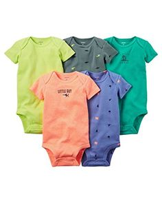 Baby Boy Clothes Carter's Baby Boys' 5 Pack Bodysuits (Baby) - Bright Solid NB Check more at https://www.newbornbabystuff.com/baby-boy-clothes-carters-baby-boys-5-pack-bodysuits-baby-bright-solid-nb/