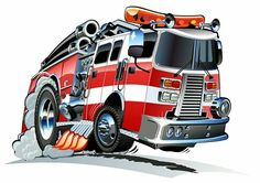 Illustration about Vector Cartoon firetruck isolated on white background. Available vector format separated by groups and layers for easy edit. Illustration of cool, pump, accident - 25830987 Firefighter Logo, Volunteer Firefighter, Firefighter Quotes, Firefighter Pictures, Garage Art, Garage Signs, Truck Art, Fire Art, Car Drawings