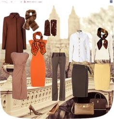 """Basics in Brown"" by chargine on Polyvore"