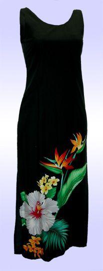 Long Tropical Hawaii Dress, Jade Fashion - Aloha Wear Clothing Store