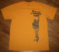 Notre Dame Irish Football Play Like A Champion Today Adidas T-Shirt Men's Large #adidas #NotreDame