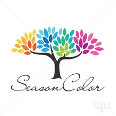 seasons tree logo template