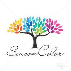 seasons tree logo template