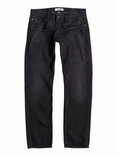 """Sequel Black Rinse 34"""" - Quiksilver Regular Fit Jeans für Männer  Sequel Black Rinse 34"""" Regular Fit Jeans von Quiksilver. Die Eigenschaften dieses Produkts sind: 5 Pocket-Design, Knopfleiste am Hosenschlitz und Baumwollgewebe. Dieses Produkt besteht aus: 100% Baumwolle.  Merkmale:  Regular Fit Jeans, 5 Pocket-Design, Knopfleiste am Hosenschlitz, Baumwollgewebe, 12.5 Oz. Stoff,  Dieses Produkt ..."""