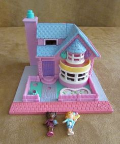 Bay Window House Polly Pocket Bluebird Country Pollyville figures 1993 jessica #Mattel #HousesFurniture
