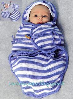 ВСЕ СВЯЗАНО. ROSOMAHA.: Вязаный нарядный конверт для младенца.