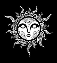 Shop designer graphic tees from our amazing selection of illustrated designs. Fashionable, artistic and cool graphic t shirts from Design By Humans. Mayan Tattoos, Sun Tattoos, Celtic Tattoos, Viking Tattoos, Body Art Tattoos, Tattoo Symbols, Polynesian Tattoos, Tatoos, Yule