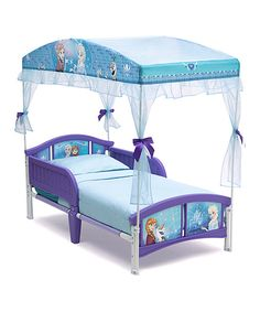 Look at this Frozen Canopy Toddler Bed on #zulily today!