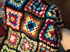 Ispired by Arne & Carlos Granny square blanket
