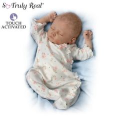 First-ever So Truly Real® lifelike baby doll by Master Artist Linda Murray that breathes, coos and has a heartbeat. Weighted for realism.