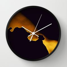 abstract gold Wall Clock