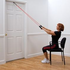 Resistance band exercises - mouse over to see movement on page