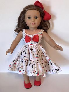 Excited to share this item from my shop: Beautiful ruffled dress with kittens American Girl Dress, American Doll Clothes, Ag Doll Clothes, Doll Clothes Patterns, American Dolls, Doll Patterns, Girls Summer Outfits, Girl Outfits, Anime Outfits