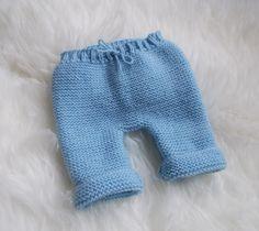 pantalon bébé en laine naissance 1mois , bleu fait à la main : Mode Bébé par bebelaine