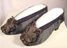 Silk dancing slippers, 1860s