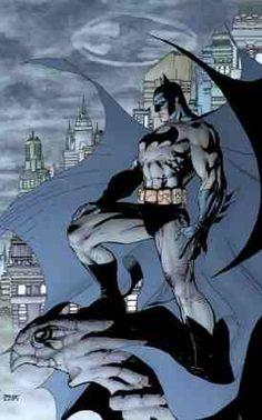 Batman overlooking Gothem