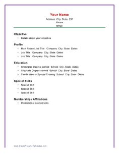 When you want the interviewer to know more about you as a person, including your membership in professional organizations, consider this resume format. Free to download and print