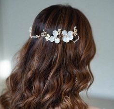 Gold Floral Hair Vine, Floral Bridal Hair Vine, Floral Wedding Hair Piece, Gold Floral Hair Piece, Wedding Headpiece, Bridal Hair Comb Gold