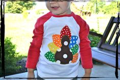 Gobble Gobble TURKEY RAGLAN Happy Thanksgiving Onesie or T Shirt on Etsy, $25.00 for aaden
