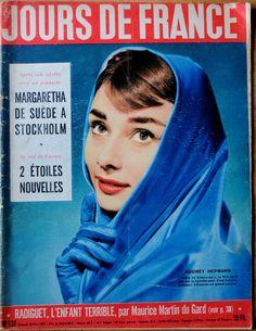 Rare French Magazine Jours de France 1957edition of Audrey Hepburn