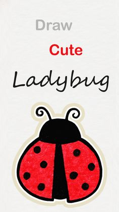 drawing ladybug draw drawings kawaii easy step bugs simple bug lady learn doodle رسم كيوت tutorial fun amazing clipartmag line