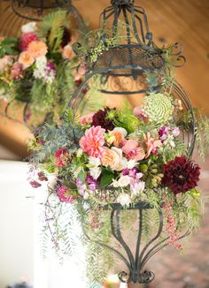 hanging floral lamp