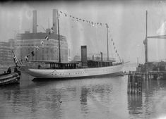 John D. Archbold's steam yacht Vixen, date and location unknown.