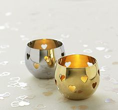 Heart Detail Metal Tea Light Candle Holder